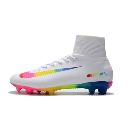Nike Soccer Shoes White Color