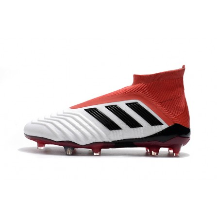 Adidas Soccer Shoes White Red Color