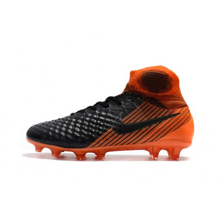 Nike Soccer Shoes Black Orange Color